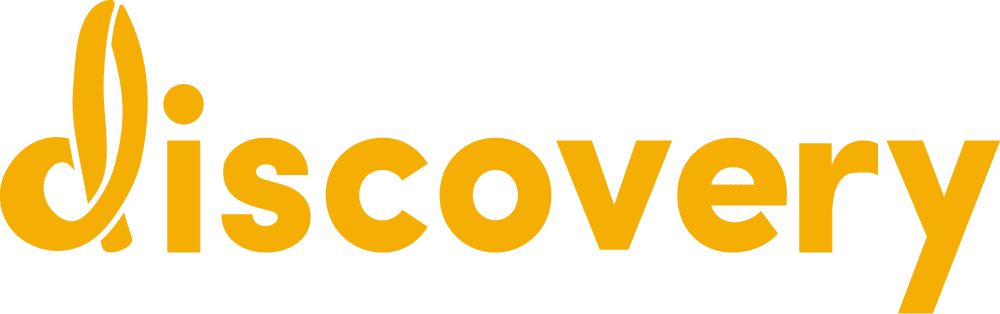 Discovery logo in yellow